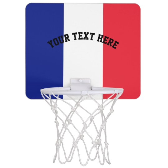 French flag of France custom Mini Basketball Hoop