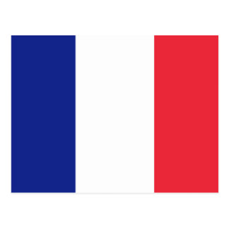 French flag of France custom postcards