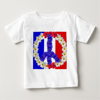 french flag peace sign t shirt