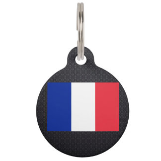 French flag pet tag