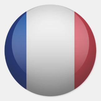 French flag round sticker