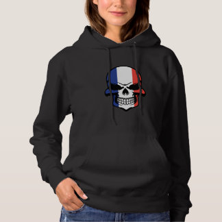 French Flag Skull Hoodie