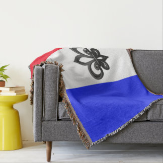 French flag throw blanket