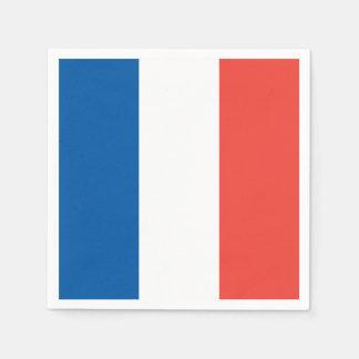 French Flag: Tricolor Bastille Day Party Banner Napkin