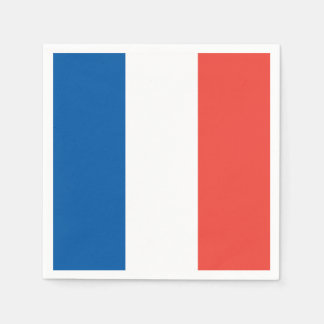 French Flag: Tricolor Bastille Day Party Banner Paper Napkins