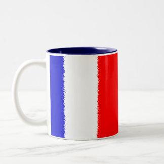 French Flag Two-Tone Coffee Mug