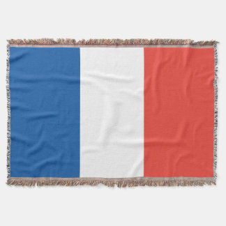 French Flag Vive La France Throw Blanket