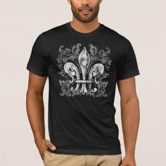 French Fleur-de-lis Men's Dark Shirt