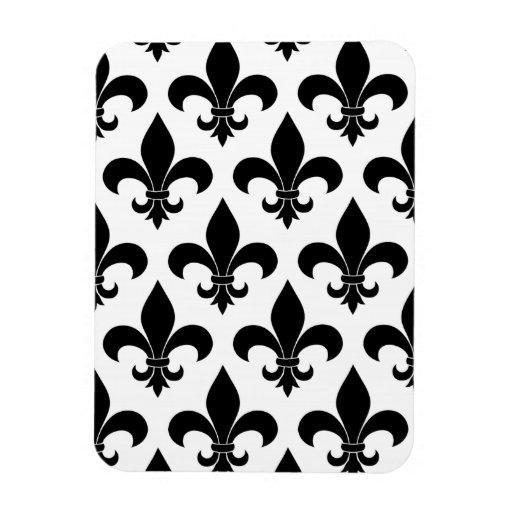 French fleur de lis Pattern Parisian Design Magnets