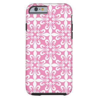 French Fleur de Lys Pattern Customizable Color Tough iPhone 6 Case