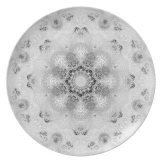 French Floral Art Melamine Plate