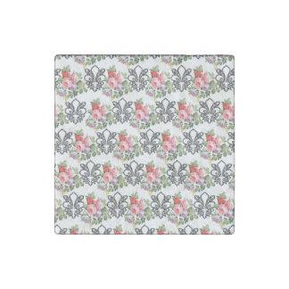 French Floral Fleur-de-lis Stone Magnets