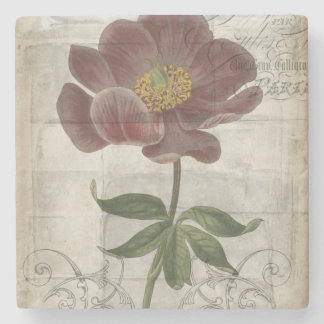 French Floral I Stone Coaster