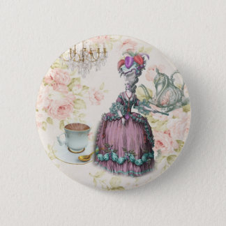 French floral Paris Tea Party Marie Antoinette 2 Inch Round Button