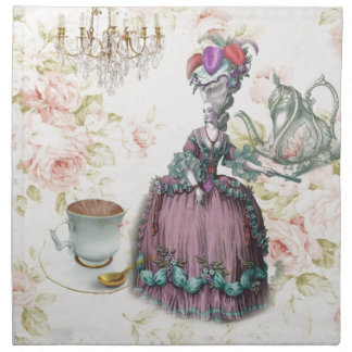 French floral Paris Tea Party Marie Antoinette Cloth Napkin