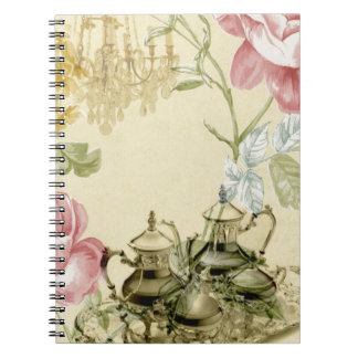 French floral Teacup Teapot Paris Tea Party Notebooks