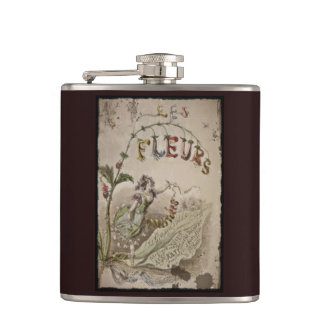 French Flower Fairy Hip Flask
