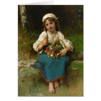 French Flower Girl Card