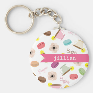 French Food Personalized Keychain