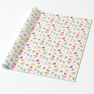 French Food Theme Wrapping Paper