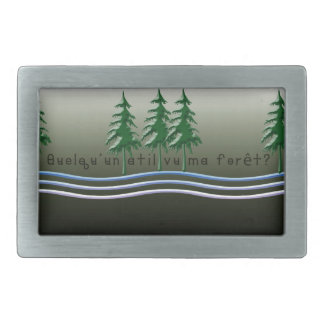 French-Forest Rectangular Belt Buckle