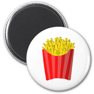 French Fries! 2 Inch Round Magnet
