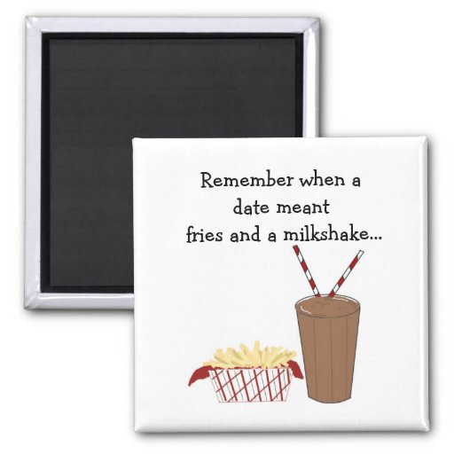 French Fries and a Milkshake Refrigerator Magnets