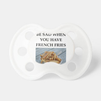 FRENCH FRIES BABY PACIFIERS