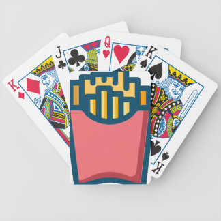 French Fries Bicycle Playing Cards