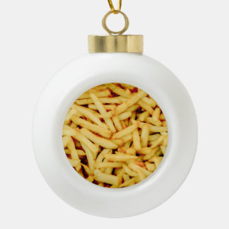 French Fries Ceramic Ball Ornament