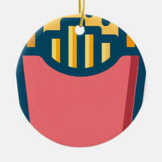 French Fries Ceramic Ornament