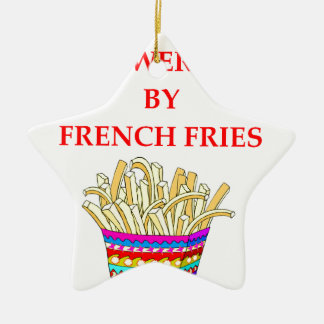 FRENCH FRIES CERAMIC STAR ORNAMENT