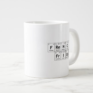 French FrIEs Chemistry Periodic Table Word Element Large Coffee Mug