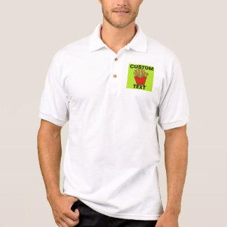 French fries custom design polo shirt