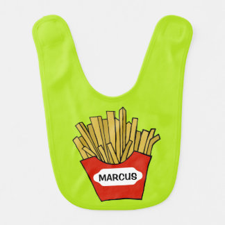 French fries design custom baby bib