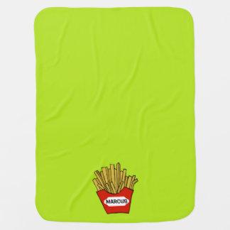 French fries design custom baby blanket