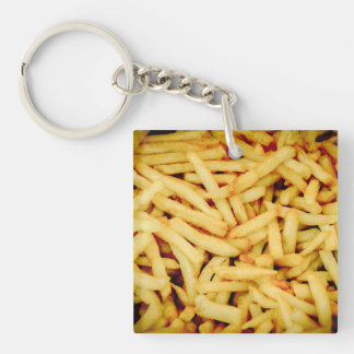 French Fries Double-Sided Square Acrylic Keychain