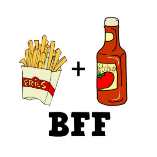 French fries & Ketchup BFF 2 Inch Round Button