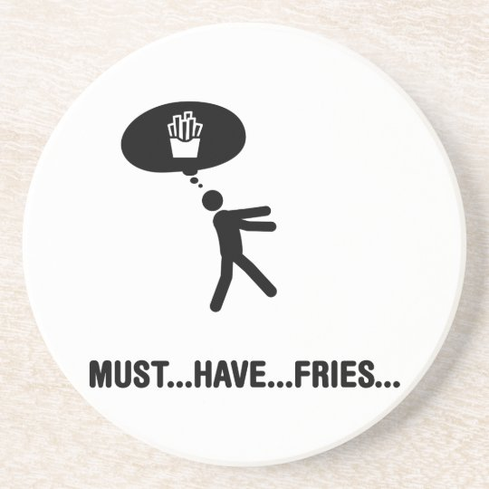 French fries lover coaster