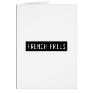 French Fries Old Typewriter Letters Card