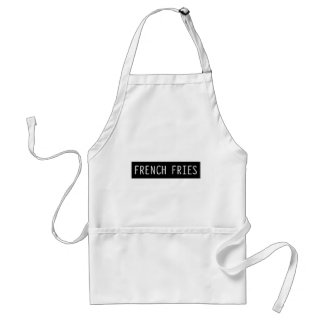 French Fries Old Typewriter Letters Standard Apron