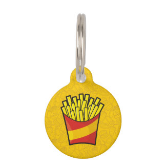 French Fries Pet ID Tag
