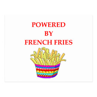 FRENCH FRIES POSTCARD