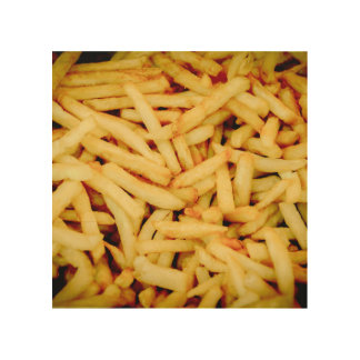 French Fries Wood Canvas