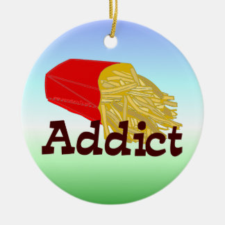 French Fry Addict Ceramic Ornament