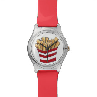 French Fry Fries Fast Food Foodie Red White Watch
