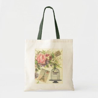 French Garden Shopping Tote Budget Tote Bag