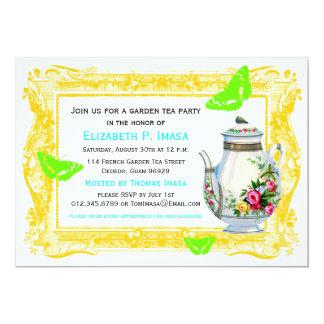 French Garden Tea Party Card
