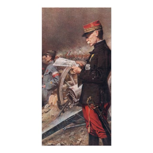 French General Joseph Gallieni by Ferdinand Roybet Photo Cards