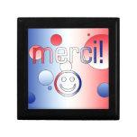 French Gifts : Thank You / Merci + Smiley Face Keepsake Box